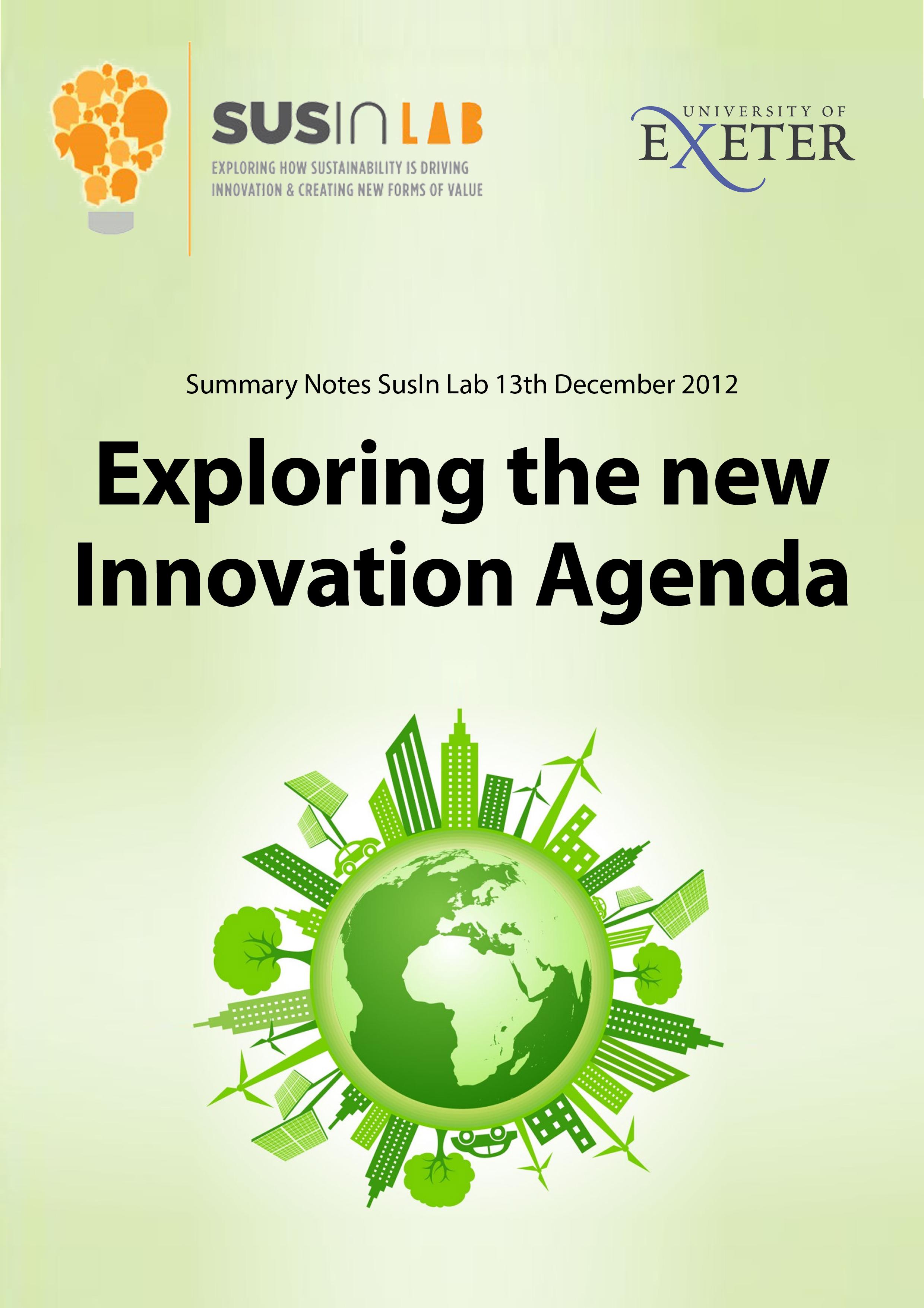 exploring the new innovation agenda
