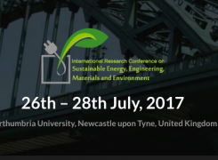 International Research Conference on Sustainable Energy, Engineering, Materials and Environment (SEEME)