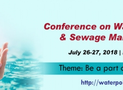 Euroscicon Conference on Water Pollution & Sewage Management 2018
