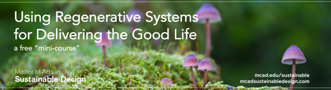 Using regenerative systems for delivering the good life