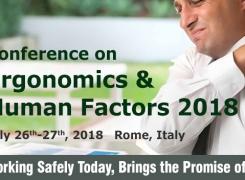 EuroSciCon Conference on Ergonomics and Human Factors 2018